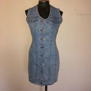 Vintage 90's Squeeze Jeans Denim Mini Dress